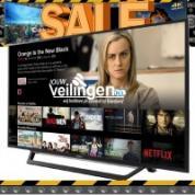 Tv's en audioapparatuur tot 65% korting bij flash sale