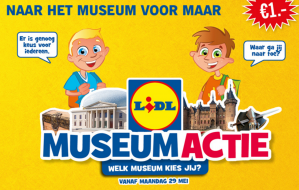 Museumactie bij Lidl; ga voor slechts €1 naar een museum