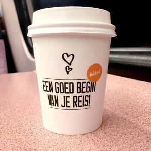 Gratis Warme drank zoals Koffie of Thee bij de NS Kiosk