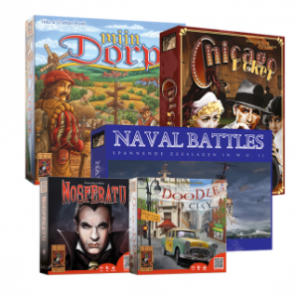 999Games Outlet sale Mijn Dorp, Doodle City, Nosferatu, Naval Battles en Chicago Poker voor €34,99