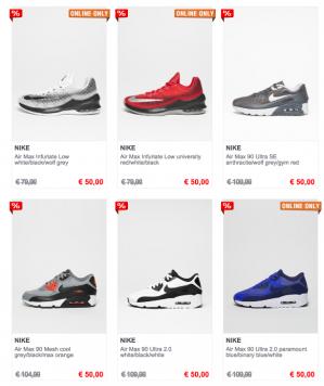 Snipes sales verschillende Air Max 90 sneakers voor €50