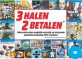 3 halen = 2 betalen op games, blu-ray, dvd en cd's