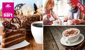 Warme drank + gebak bij Bakker Bart in Den Haag en Delft
