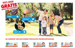 Gratis activiteit bij aankoop kinder chocolade