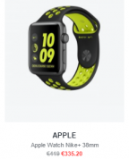 20% Korting op diverse Apple Watches 2e serie