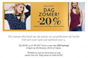 Streetone sale op tops, blouses en shirts met 20% extra korting