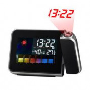 Temperature Humidity Display LED Projection Alarm Clock - Black voor €5,26 bij Amazon.de d.m.v. code