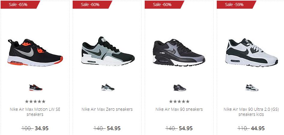 4d3b8efd0b1 Shop nu tijdens de sale van Wehkamp je Nike Air Max sneakers met kortingen  tot wel 60%.