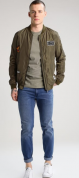 Only & Sons ONSBADGE - Bomberjacks - olive night voor €14,95