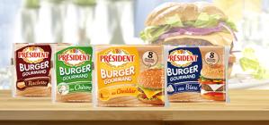 Président Burger plakjes smeltkaas: van €1,49 voor €0,50 dmv cashback