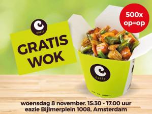 Wokmaaltijd bij Eazie Amsterdam Bijlmer Gratis