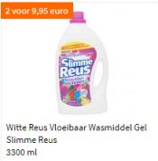 Witte reus vloeibaar wasmiddel 2 flessen van 3300 ml voor €9,95