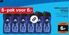 Adidas douche multipak 6 stuks 250ml voor €6