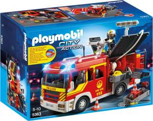 PLAYMOBIL City Action brandweer pompwagen met licht en sirene voor €37,50