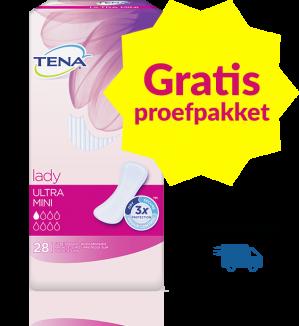 Bestel een gratis proefverpakking Tena Lady