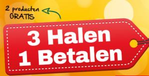 Sale bij Holland & Barrett 3 halen is 1 betalen