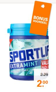 Sportlife 2 verpakkingen voor €2