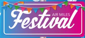 Air miles festival met diverse acties