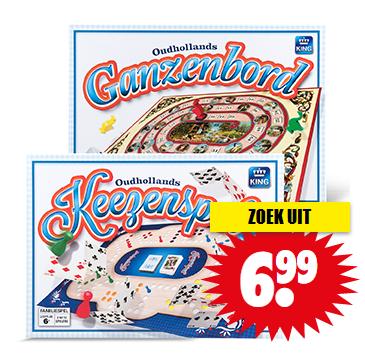 King Oud Hollands Ganzenbord/Keezenspel voor €6,99