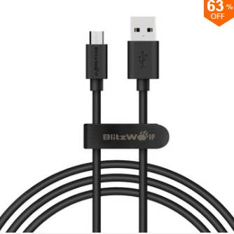 BlitzWolf® BW-CB7 2.4A 3.33ft/1m Micro USB Charging Data Cable voor €1,73