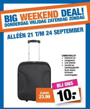 Handbagage trolley voor €10