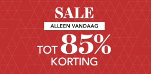 Wehkamp sale tot 85% korting