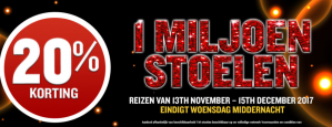 20% korting op alle vluchten vanaf Brussel of Eindhoven