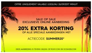 20% extra korting op de sale van 50%