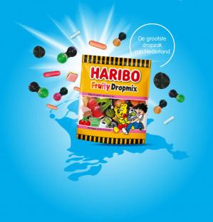 Vraag gratis een zakje Haribo Fruity Dropmix aan