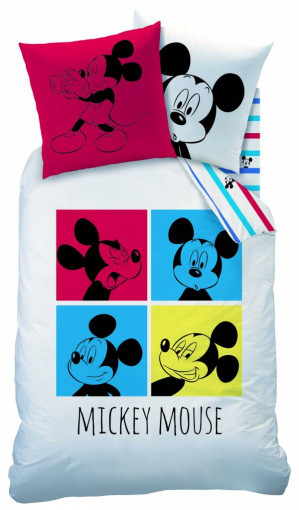 Disney Mickey Mouse Photomoton - Dekbedovertrek - 140 x 200 cm - Wit/multi voor €14,95