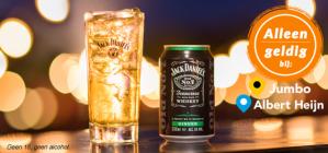 Jack Daniel's & Ginger Ale van €2,29 voor €1,14 dmv cashback