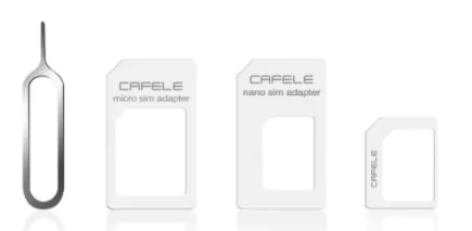 CAFELE 4 In 1 SIM Card Adapter Micro + eject pin voor €0,10  d.m.v. code