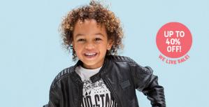 Tumble 'n Dry sale met 40% korting op kinderkleding