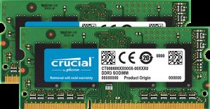 Crucial 16GB Kit (2 x 8GB) DDR3-1866 SODIMM  voor €73,79
