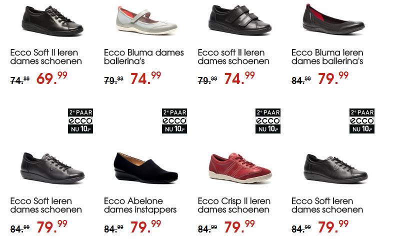 Sale bij Scapino tweede paar Ecco schoenen nu voor </p>                     </div>   <!--bof Product URL --> <!--eof Product URL --> <!--bof Quantity Discounts table --> <!--eof Quantity Discounts table --> </div>                        </dd> <dt class=
