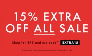 Kortingscode Boozt voor 15% korting op extra korting op de sale