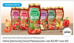 Heinz [Seriously] Good Pastasauzen nu gratis