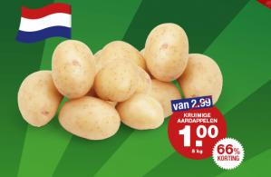 Kruimige aardappelen 5 kilo voor €1