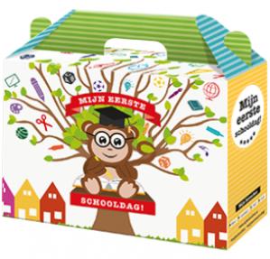 Vraag de gratis schoolbox aan voor kids voor groep 1