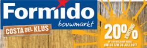 Sale bij Formido  en Praxis met kortingen tot 25% of 20% Korting op 1 artikel naar keuze