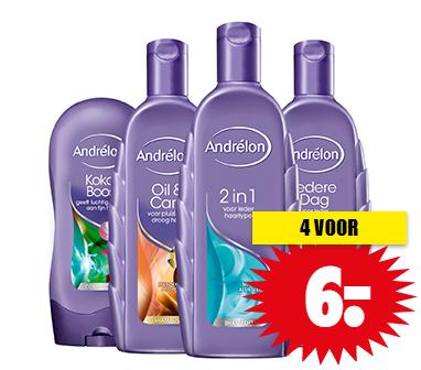 Andrélon shampoo of conditioner 4 stuks voor €6