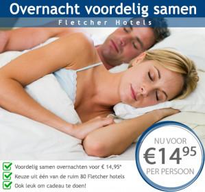Hotel Voucher voor goedkoop overnachten voor €14,95 p.p.