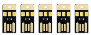 5 x Mini USB LEDs warm wit licht voor €0,01 d.m.v code