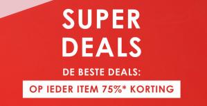 Super Sale bij Zalando alles met 75% korting
