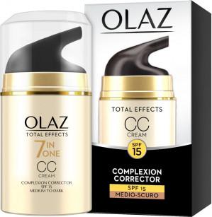 Olaz Total Effects 7-in-1 medium tot donkere huidtint - 50 ml - CC Cream voor €2,49