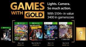 Games With Gold Gratis games voor november