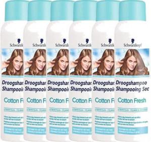 Schwarzkopf Cotton Fresh - 6x 150 ml Voordeelverpakking - Droogshampoo voor €4,79 per fles