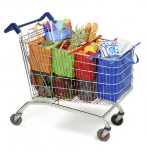 Herbruikbare boodschappentas voor winkelwagentje voor €20,55