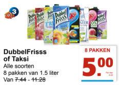 8 pakken Taksi of Dubbelfris voor €5