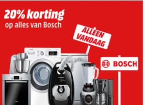 20% korting alles van het merk Bosch